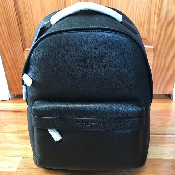 b6670c215ca539 Michael Kors Bags | Russel Black Leather Backpack | Poshmark